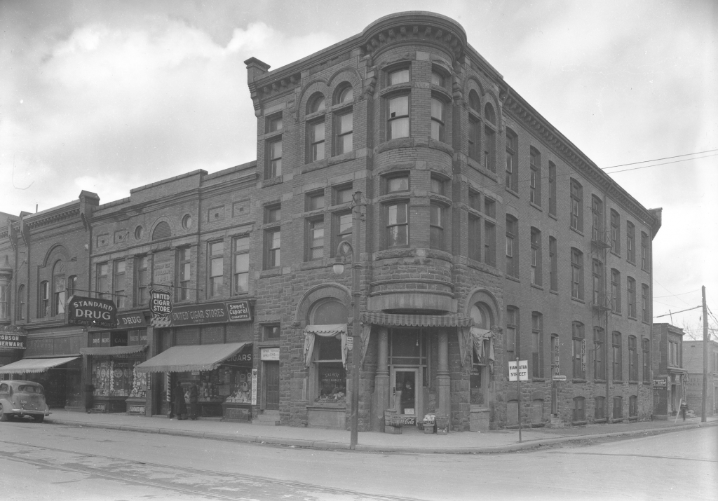 St. Thomas Journal building, north-west corner of Talbot and Hiawatha Street